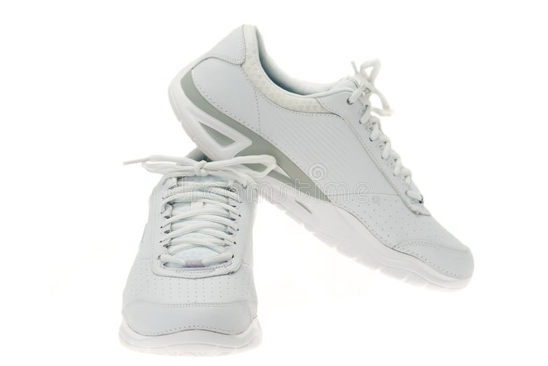 White Sports Shoes Royalty Free Stock Images