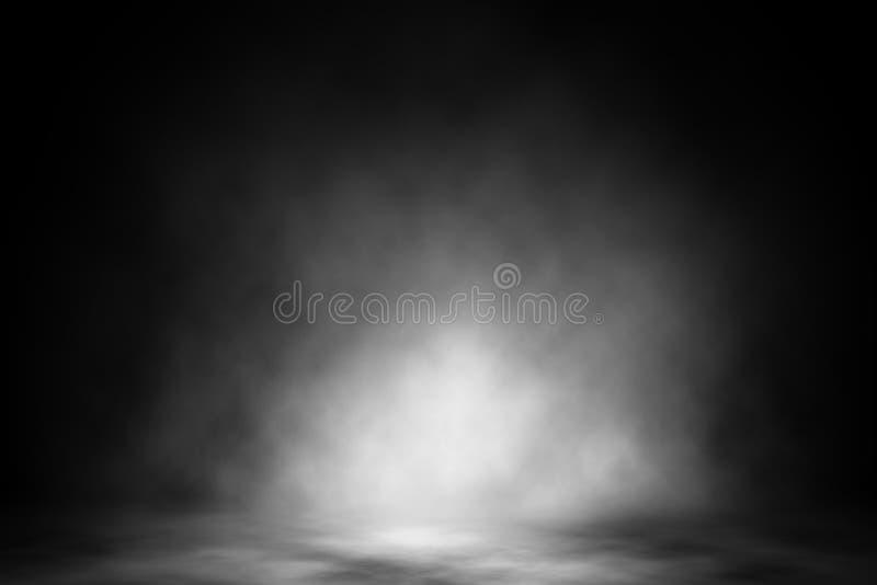White spotlight smoke nightclub backdrop. stock photos