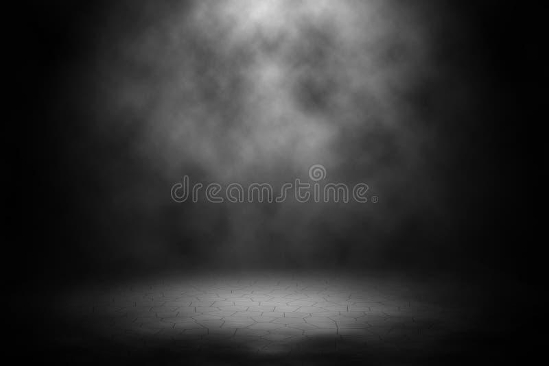 White spotlight spotlight on brick background. royalty free stock images
