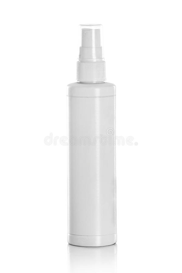 White spray bottle stock photography
