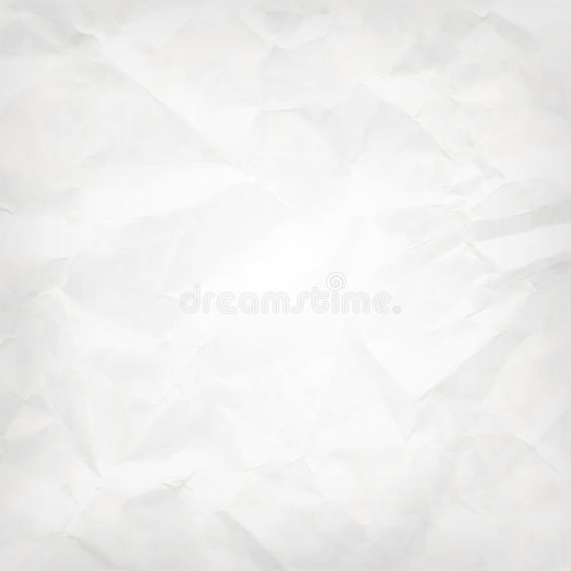 White square abstract vector background -- crumpled pack paper texture vector illustration