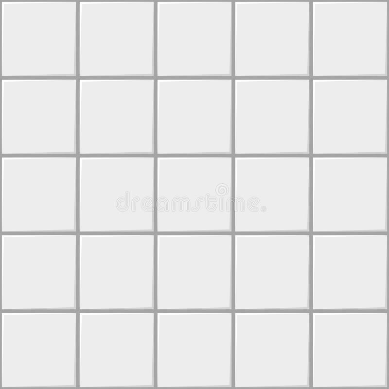 Designer White Abstract Ceramic Wall Tile Pack Of 8 L: White Square Ceramic Seamless Pattern Background, Vector