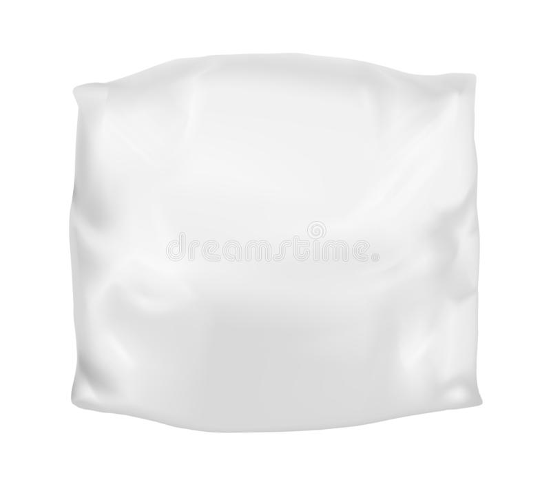 White square pillow. Vector mock up.  royalty free illustration