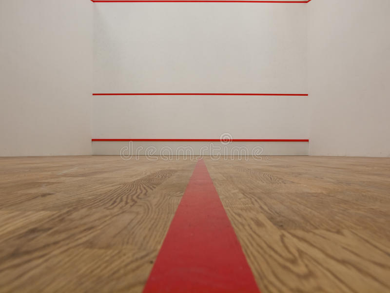 White squash court royalty free stock images