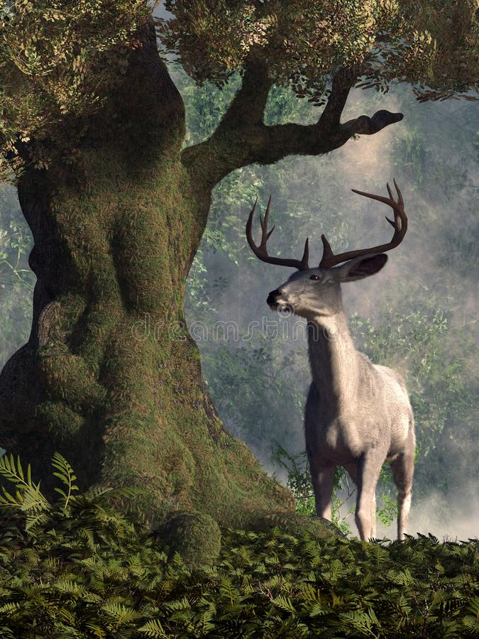 The White Stag royalty free illustration