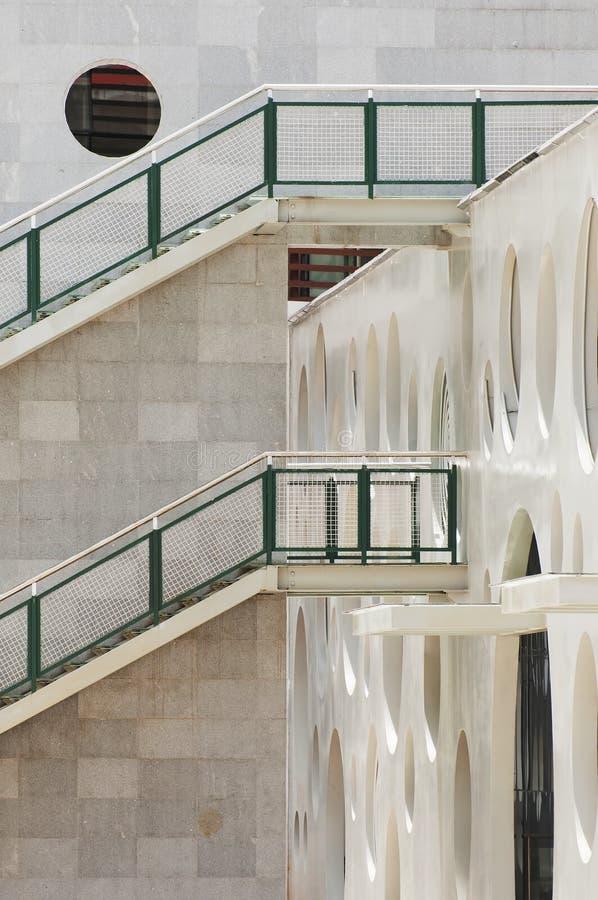 White stair royalty free stock photo