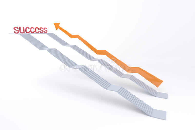 Download White stair go to success stock illustration. Illustration of gold - 28693119