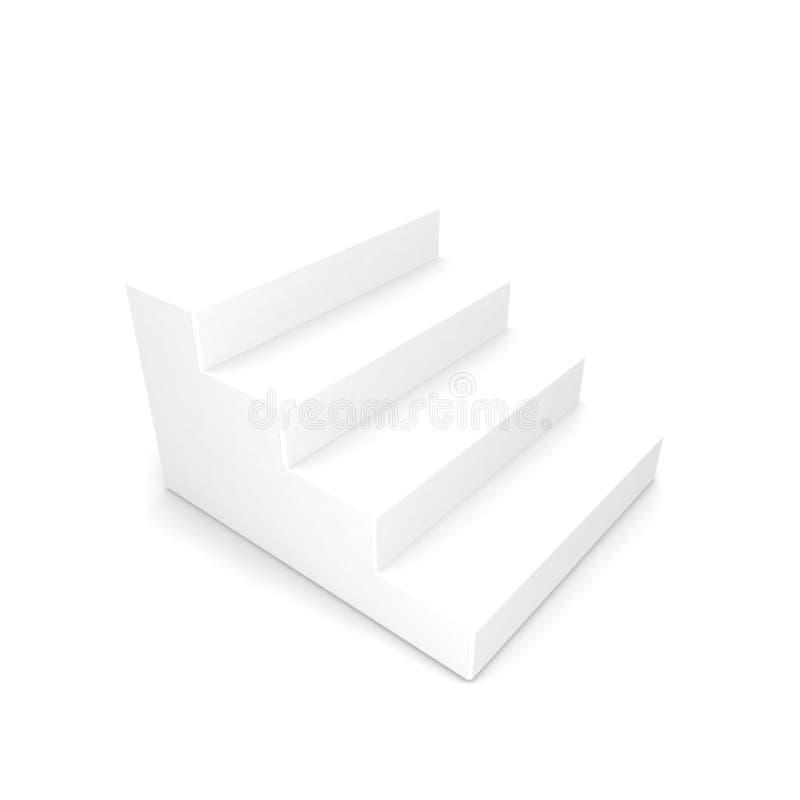 White staircase royalty free stock image