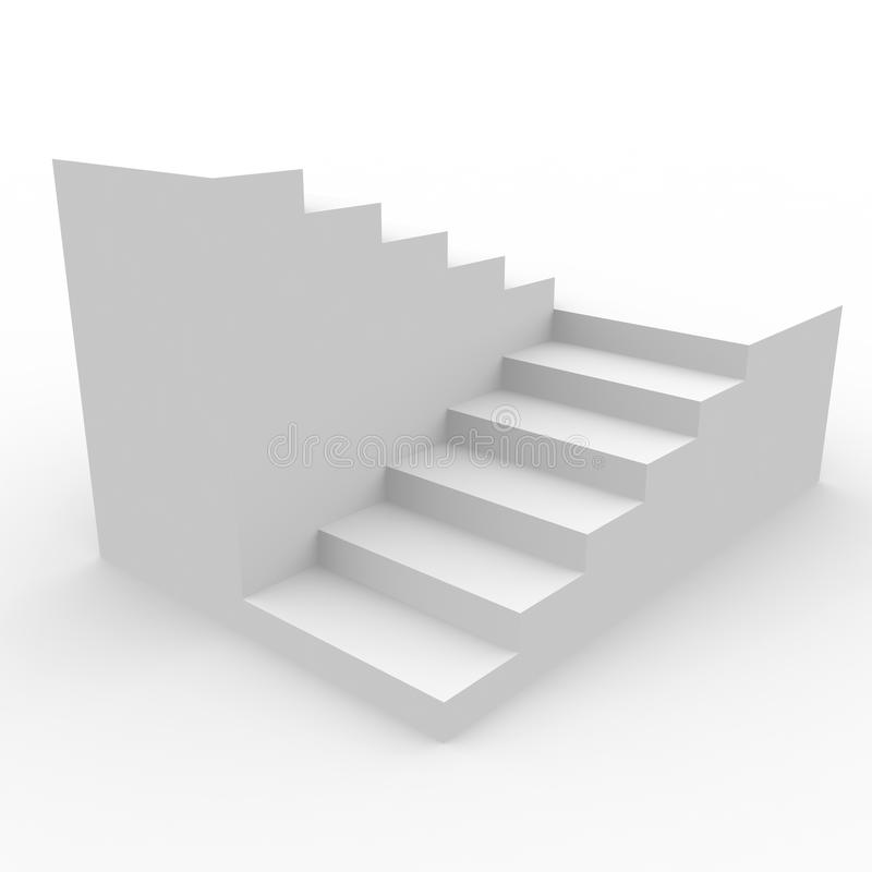 Free White Staircase. Royalty Free Stock Photo - 22562295