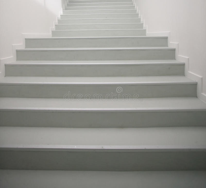 White stairs stock photos