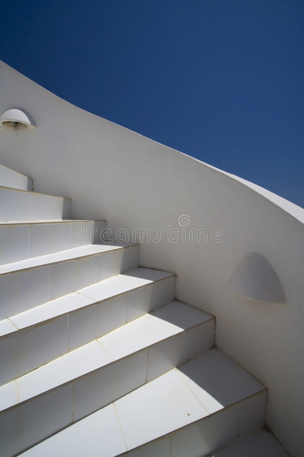 Download White stairs and blue sky stock image. Image of ascent - 2910439