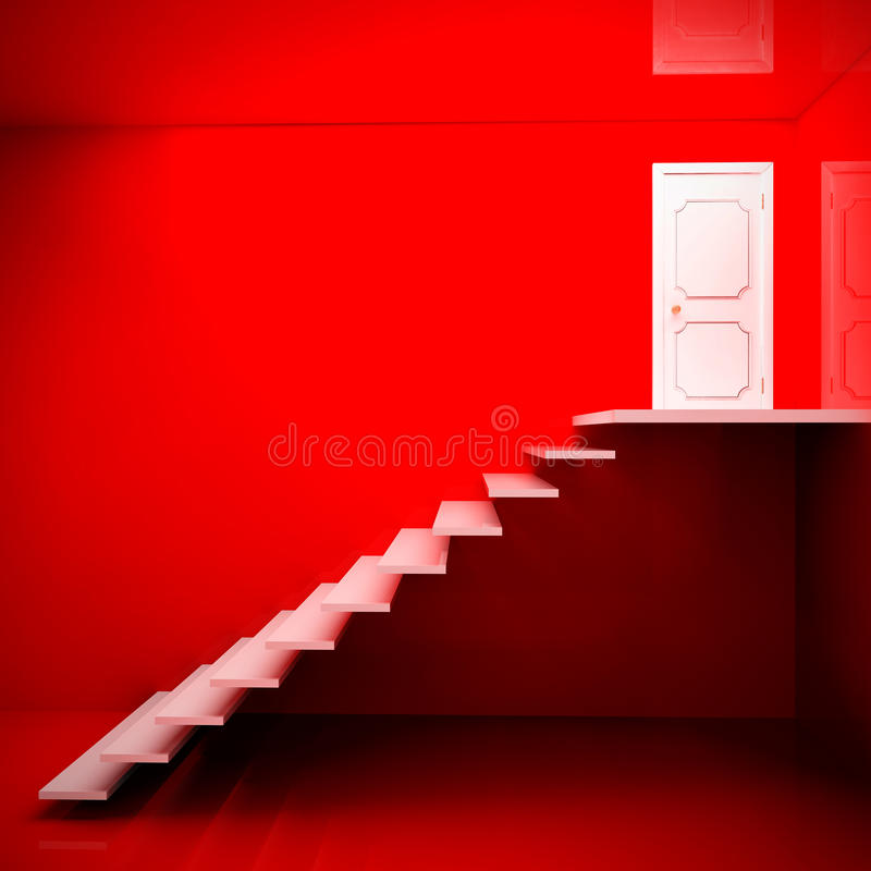 White stairs royalty free stock photos