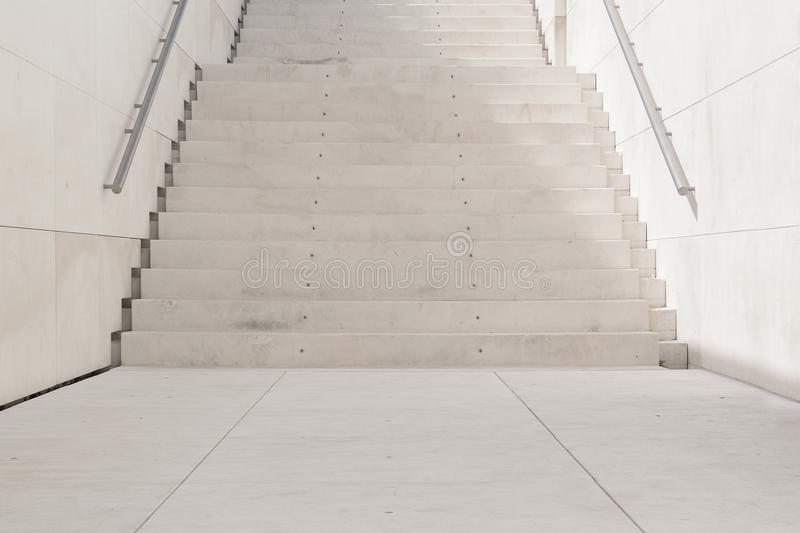 White stairs in an urban street background. stock photography