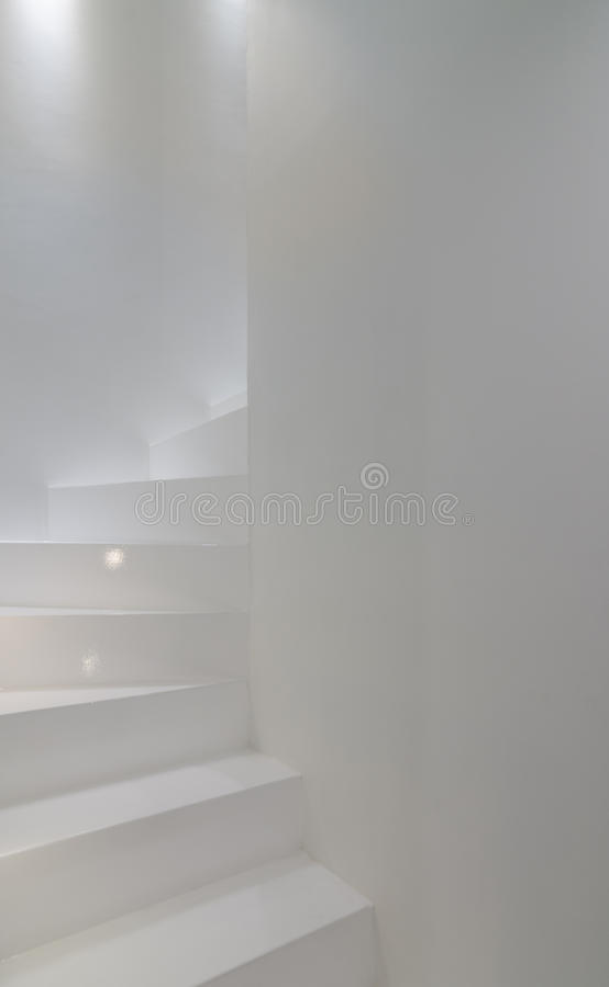 White stairscase royalty free stock photo