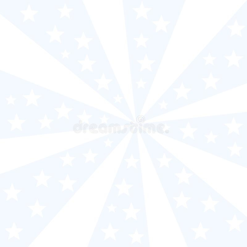 White stars exploding on blue light ray like laser striped background royalty free stock image