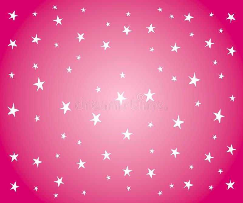 Download White Stars On Pink Background Stock Illustration - Image: 3167713