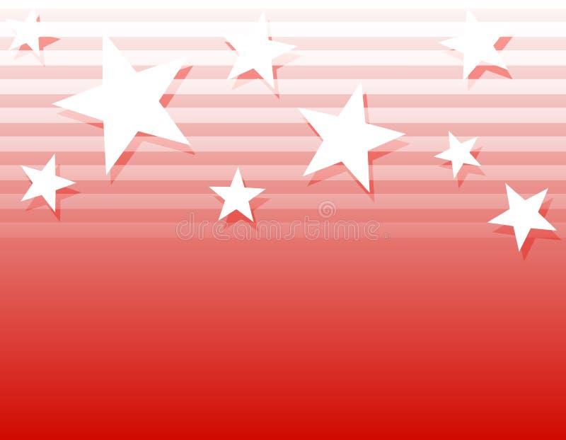 White Stars Stripes Background