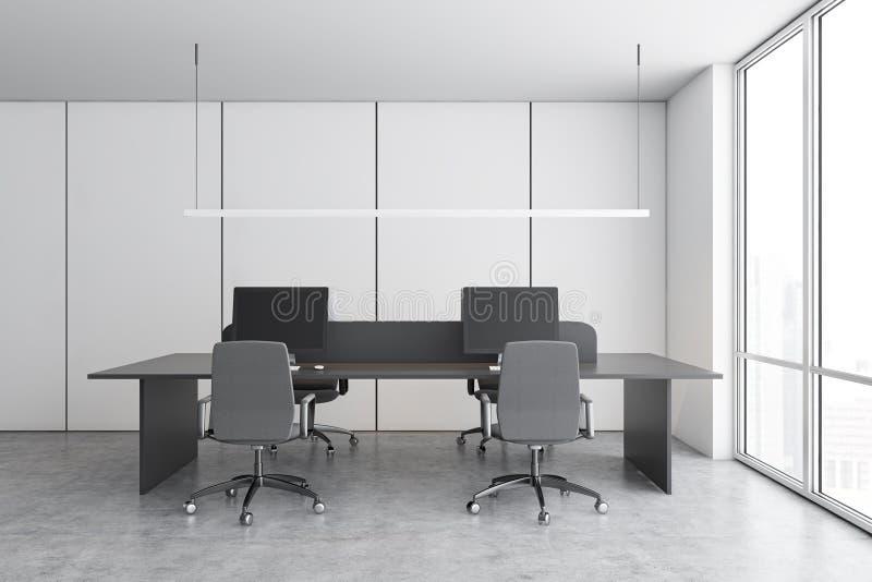White start up office interior royalty free illustration