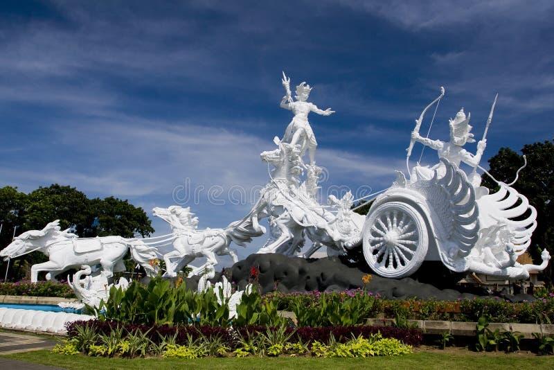 White statue in Bali stock photos
