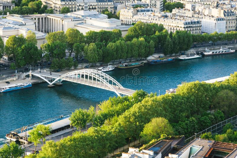 White Steel Bridge on Water Canal in the Middle of City during Day stock photos