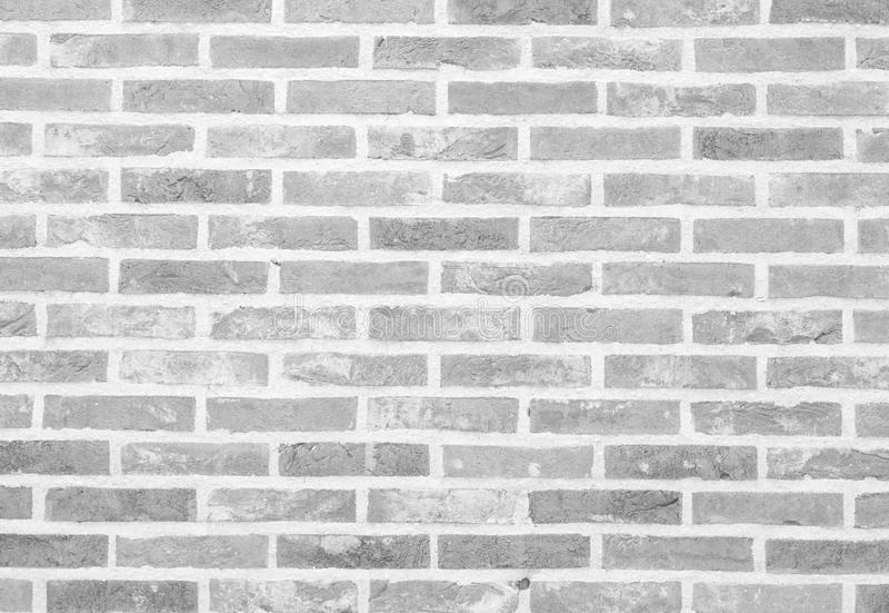 White stone brick wall texture and background stock photo