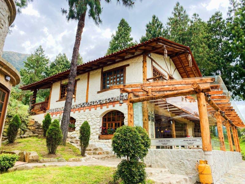 Rustic Countryside Restaurant in El Cajas stock images