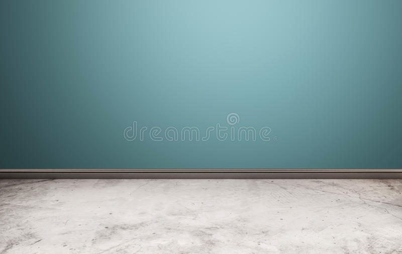 White stone floor with blue wall vector illustration
