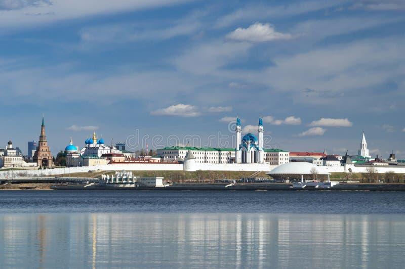 The white stone Kremlin is the oldest part of Kazan royalty free stock photos