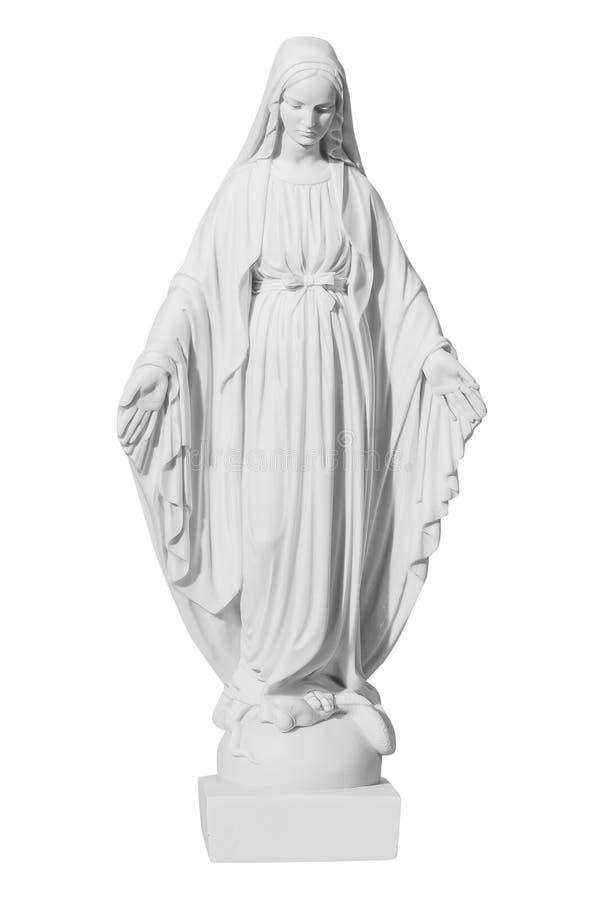 Free White Stone Statue Of Saint Mary Stock Photos - 57997453