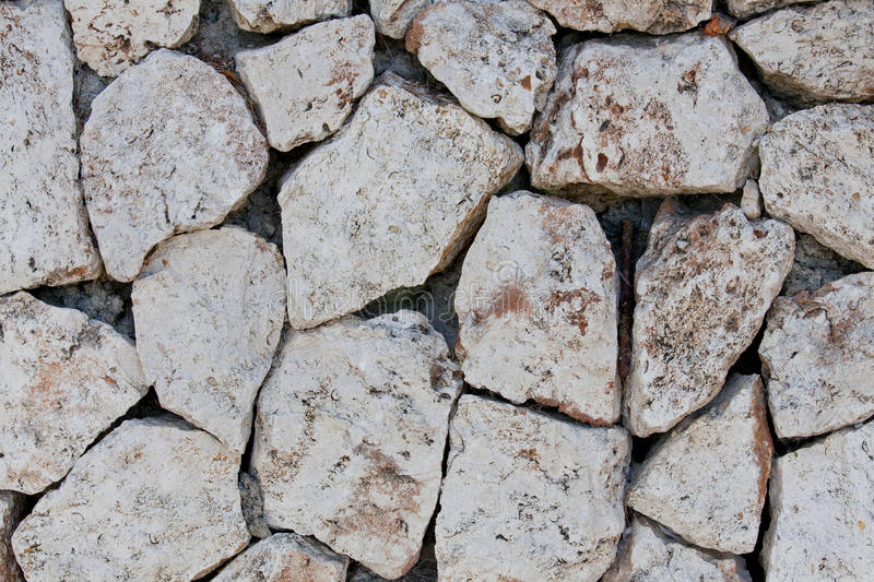 White Stone Stone Texture. White Stone Texture - Background With Many Little Pieces royalty free stock image