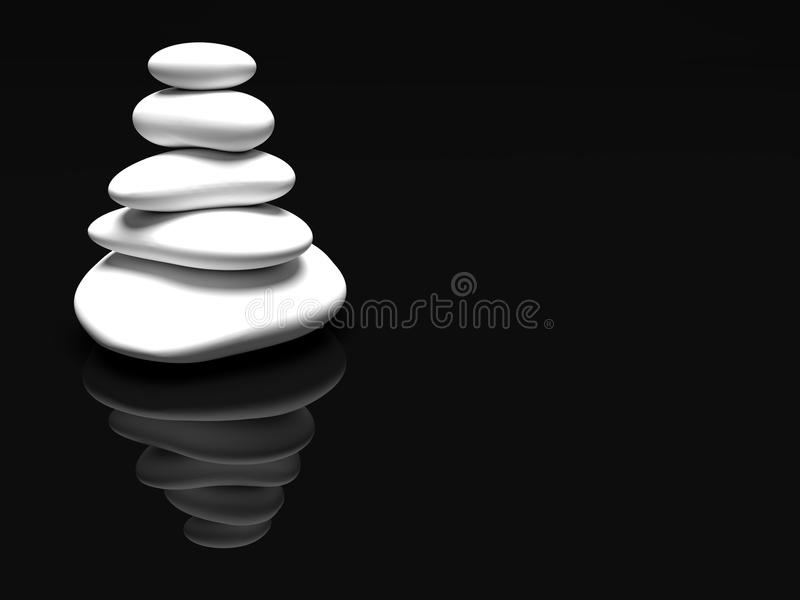 White stones path black background vector illustration