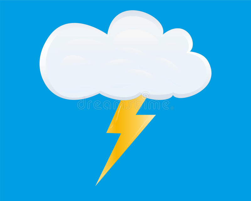 Download White storm cloud stock vector. Image of icon, white - 26266100