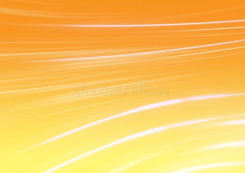 White strips of brush strokes on orange background stock illustration