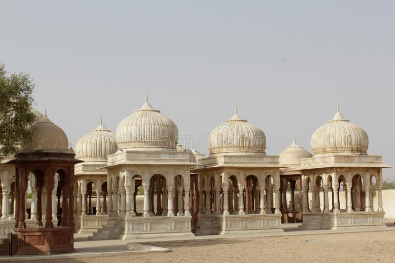 The tombs of Indian kings stock photo