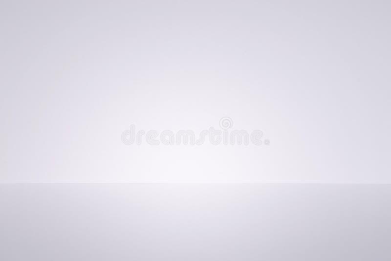White studio background. Empty room wall and floor stock photo