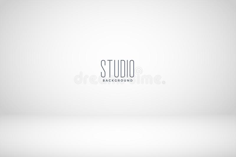White studio empty room background royalty free illustration