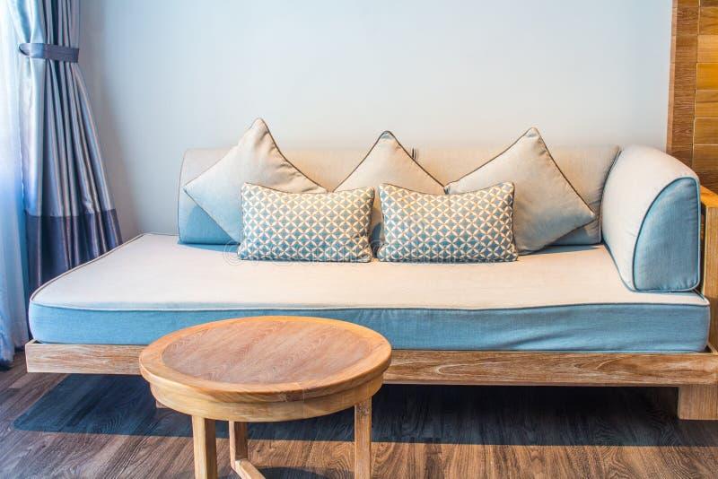 White stylish minimalist room with sofa. Parquet wood interior design royalty free stock photography
