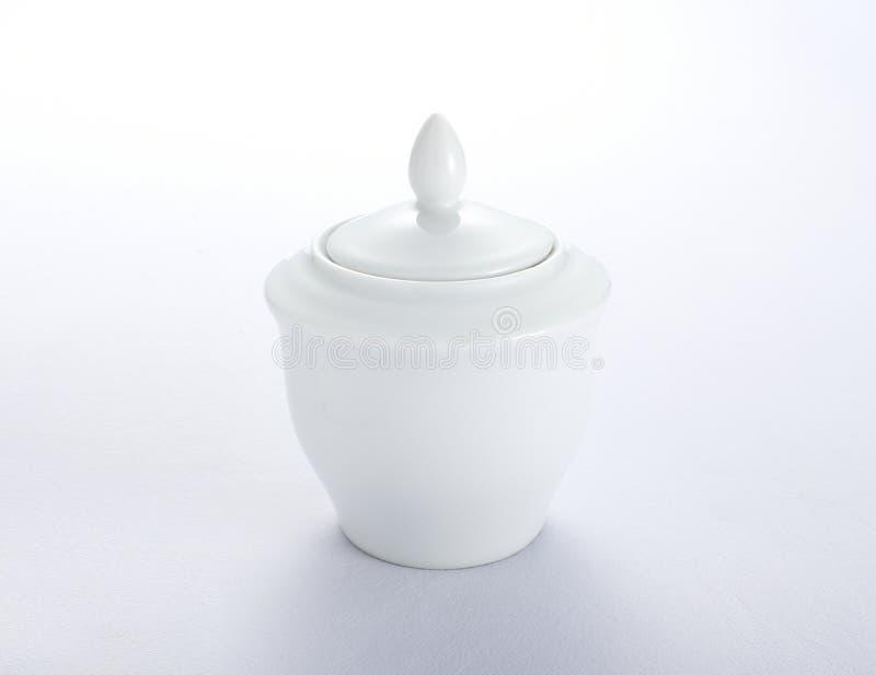 White sugar container