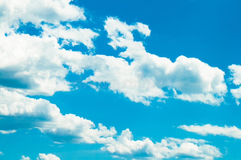 Download White summer clouds stock image. Image of summer, wind - 9823051