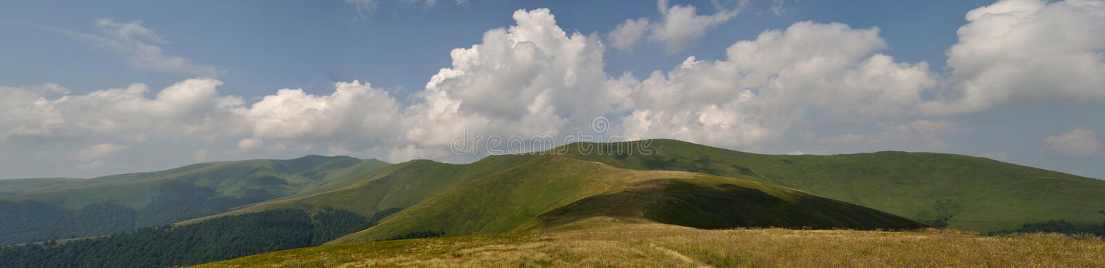 Download White Summer Clouds Above Mountain Meadows Stock Image - Image: 15365275