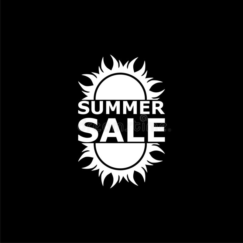 Summer Sale Sign, Logo, Simple Icon Stock Illustration