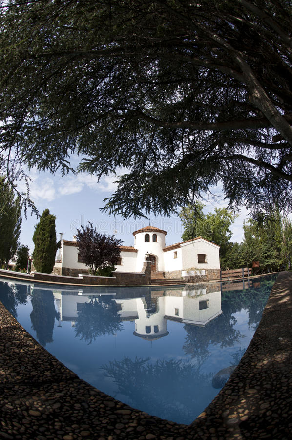 Download White Sunny Spanish Villa Royalty Free Stock Photos - Image: 23322378