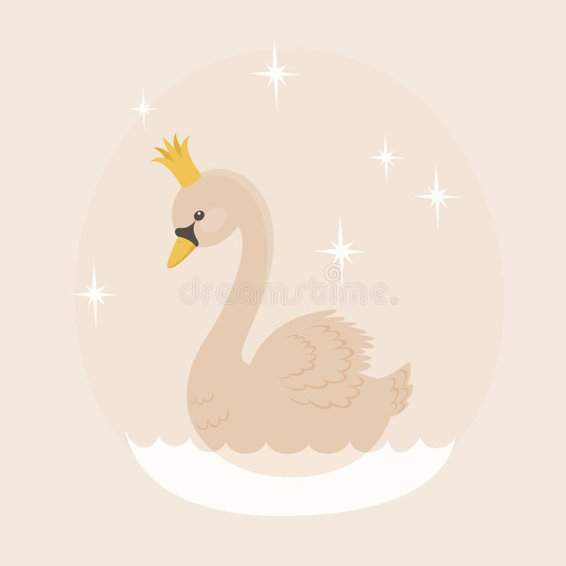 Free White Swan With In A Crown Stock Photo - 111574520