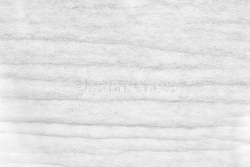 White Synthetic Fiber Bed Mattress Topper texture close up stock photo