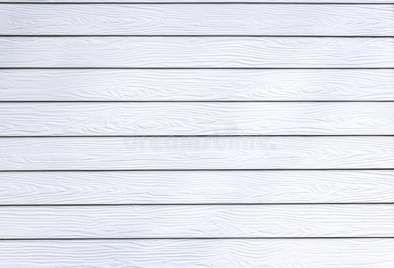 White synthetic wood texture wall house. stock photos