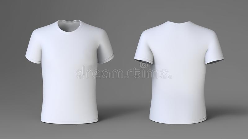 White t-shirt. Front and back stock illustration