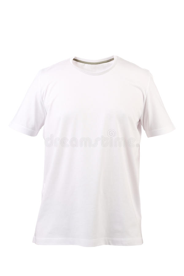 White T-shirt. Front. Royalty Free Stock Images