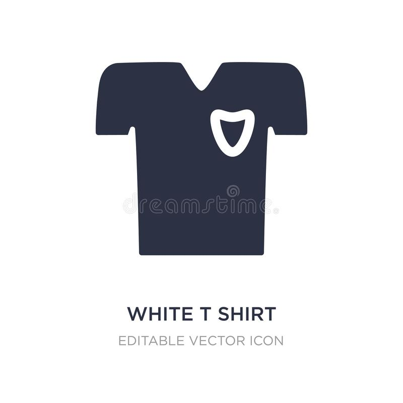 White t shirt icon on white background. Simple element illustration from Fashion concept. White t shirt icon symbol design vector illustration