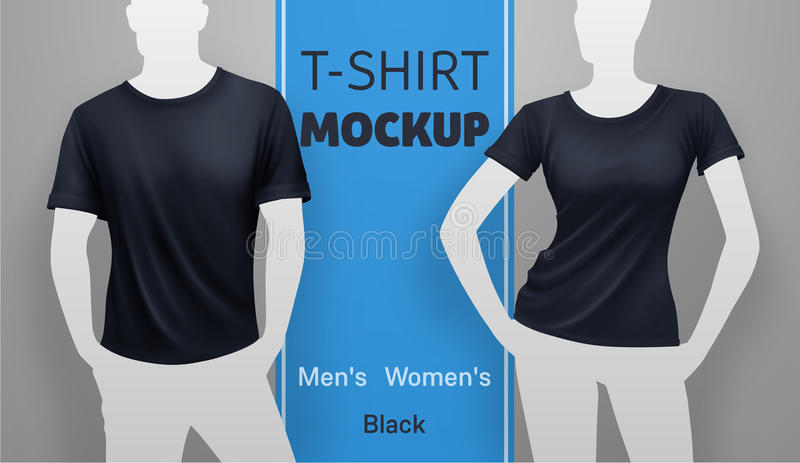 White t-shirt mockup. stock illustration