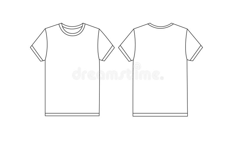 White Tshirt Mockup Stock Illustration Illustration Of White - T shirt mockup template